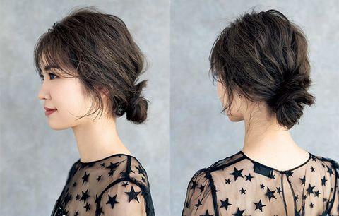 Hair, Hairstyle, Face, Chin, Neck, Bob cut, Brown hair, Black hair, Long hair, Hair coloring,