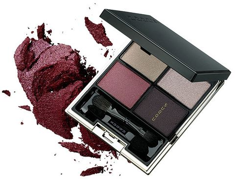Red, Magenta, Eye shadow, Cosmetics, Square, Graphics,