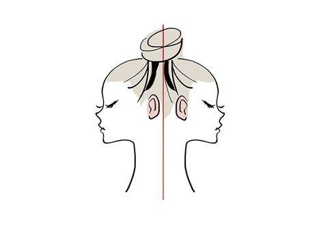 Head, Line, Joint, Neck, Organism, Illustration, Line art, Diagram, Art,
