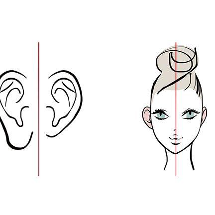 耳と顔のイラスト