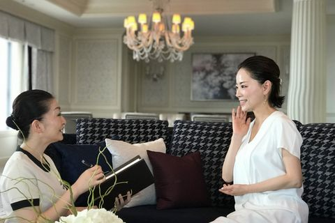 Photograph, Event, Ceremony, Room, Dress, Restaurant, Wedding, Interior design, Conversation, Happy,