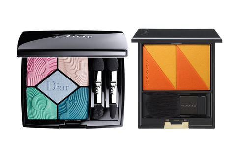 Eye shadow, Eye, Turquoise, Product, Beauty, Cosmetics, Organ, Human body, Material property, Beige,