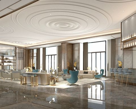 Building, Ceiling, Interior design, Lobby, Architecture, Column, Room, Furniture, Daylighting, Glass,