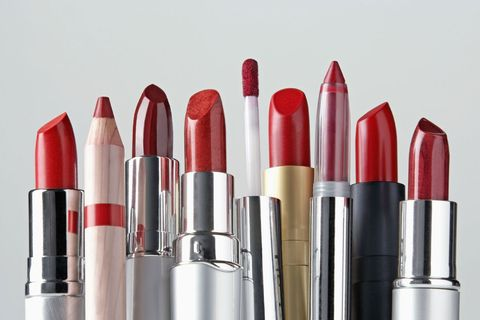 Red, Lipstick, Cosmetics, Product, Beauty, Pink, Lip, Material property, Tints and shades,