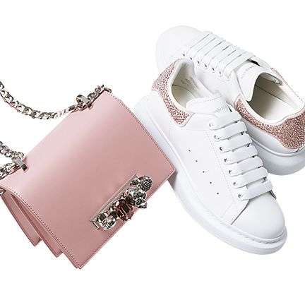 Footwear, White, Product, Shoe, Pink, Fashion accessory, Font, Sneakers,