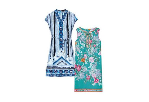 Clothing, Aqua, Turquoise, Pattern, Dress, Design, Neck, Sleeve, Textile, Pattern,
