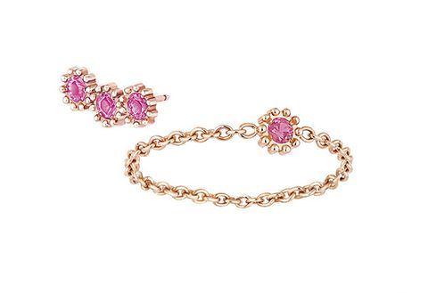 Jewellery, Fashion accessory, Body jewelry, Pink, Gemstone, Bracelet, Magenta, Chain, Diamond, Ear,