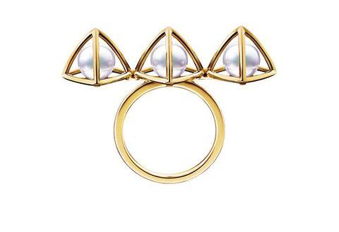 Body jewelry, Fashion accessory, Jewellery, Metal, Circle, Ring, Diamond, Triangle, Gemstone,