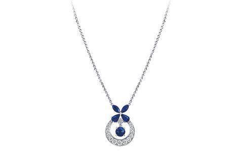 Jewellery, Pendant, Fashion accessory, Necklace, Locket, Body jewelry, Chain, Sapphire, Silver, Gemstone,