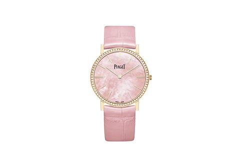 Analog watch, Watch, Pink, Watch accessory, Strap, Fashion accessory, Quartz, Jewellery, Material property, Brand,