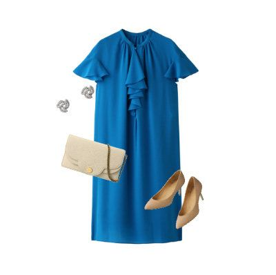 Blue, Clothing, Turquoise, Aqua, Sleeve, Dress, Azure, Electric blue, Joint, Robe,