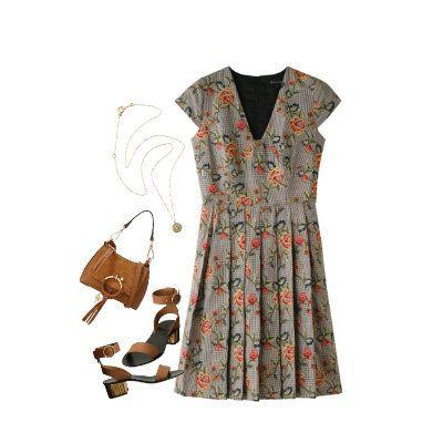 Clothing, Dress, Day dress, White, Sleeve, Brown, Pattern, Beige, Pattern, Design,