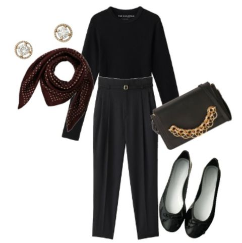 Clothing, Black, Footwear, Brown, Fashion, Shoe, Trousers, Dress, Fashion accessory, Sleeve,