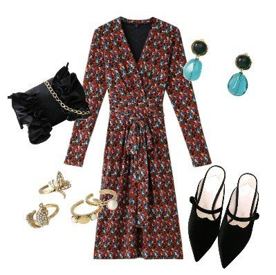 Clothing, Black, Dress, Sleeve, Fashion, Pattern, Footwear, Outerwear, Design, Day dress,