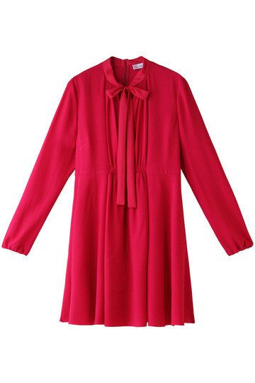 Clothing, Sleeve, Red, Pink, Outerwear, Collar, Blouse, Dress, Magenta, Neck,