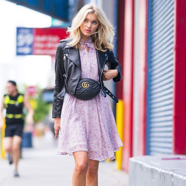 Clothing, Street fashion, Photograph, Fashion, Pink, Snapshot, Yellow, Footwear, Jacket, Dress,