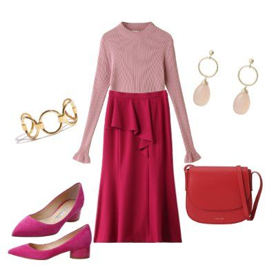 Clothing, Pink, Red, Footwear, Dress, Magenta, Fashion, Neck, Shoe, Sleeve,