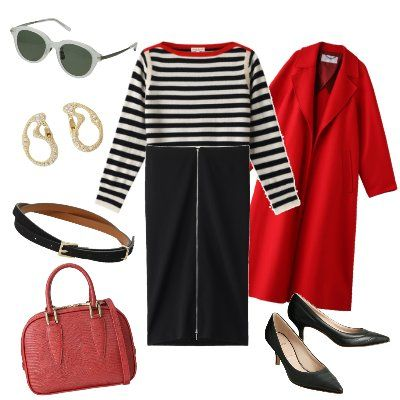 Clothing, Red, Sleeve, Footwear, Pink, Dress, Outerwear, Shoe, Style, Trousers,