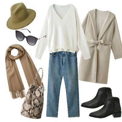 Clothing, Footwear, Brown, Sleeve, Fashion, Outerwear, Hat, Jeans, Sun hat, Headgear,