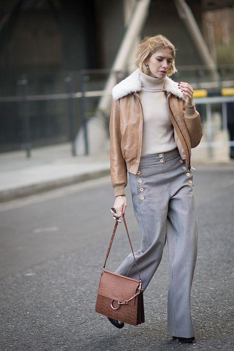 White, Clothing, Street fashion, Photograph, Fashion, Jeans, Brown, Blazer, Snapshot, Outerwear,