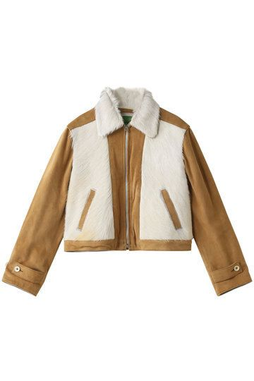 Clothing, Outerwear, Jacket, Sleeve, Beige, Tan, Fur, Leather jacket, Brown, Leather,