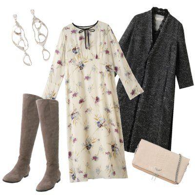 Clothing, Dress, Sleeve, Robe, Day dress, Pattern, Pattern,