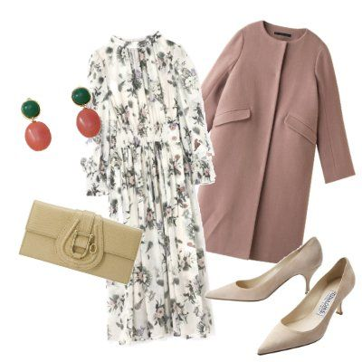 Clothing, Footwear, Outerwear, Beige, Dress, Sleeve, Blouse, Trench coat, Shoe, Trousers,