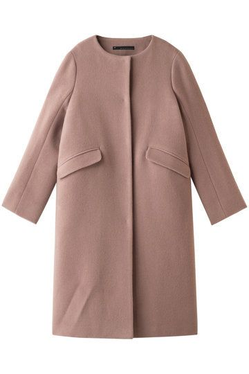 Clothing, Outerwear, Coat, Sleeve, Overcoat, Pink, Trench coat, Collar, Jacket, Beige,