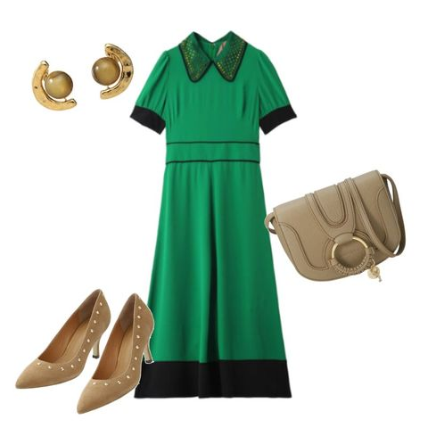 Green, Clothing, Dress, Footwear, Sleeve, Fashion, Yellow, Turquoise, Shoe, Fashion accessory,