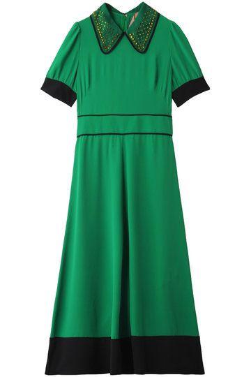 Clothing, Green, Day dress, Dress, Sleeve, Collar, Cocktail dress,