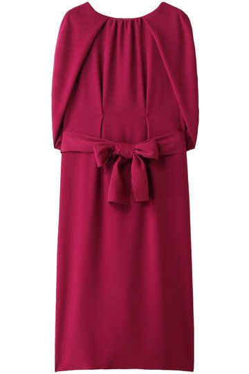 Clothing, Dress, Cocktail dress, Day dress, Magenta, Pink, Sleeve, Purple, Ruffle, Satin,