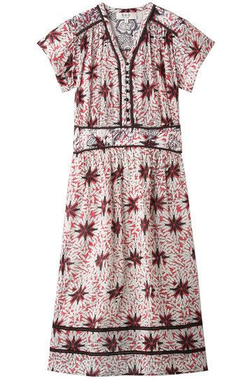Clothing, Day dress, Dress, Sleeve, Pattern, Pink, Pattern, Neck,
