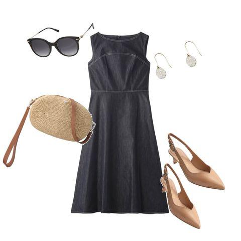Clothing, Dress, Black, Little black dress, Shoulder, Brown, Day dress, Footwear, Cocktail dress, Sheath dress,