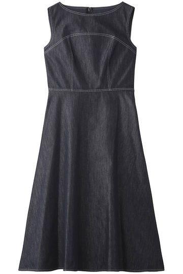 Clothing, Dress, Day dress, Black, Cocktail dress, Little black dress, A-line, Denim, Sleeve,