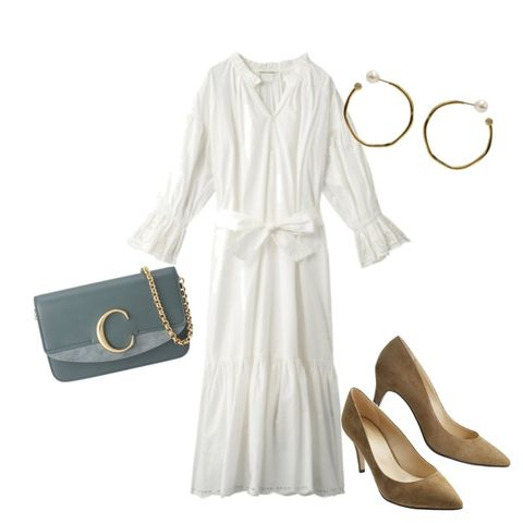 White, Clothing, Beige, Yellow, Dress, Footwear, Sleeve, Outerwear, Fashion accessory, Shoe,