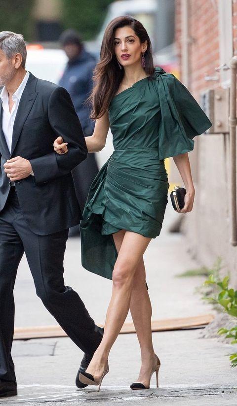Fashion model, Clothing, Dress, Cocktail dress, Leg, Shoulder, Fashion, Thigh, Formal wear, Footwear,