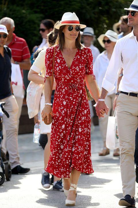 White, Clothing, Sunglasses, Eyewear, Fashion, Street fashion, Hat, Walking, Dress, Footwear,
