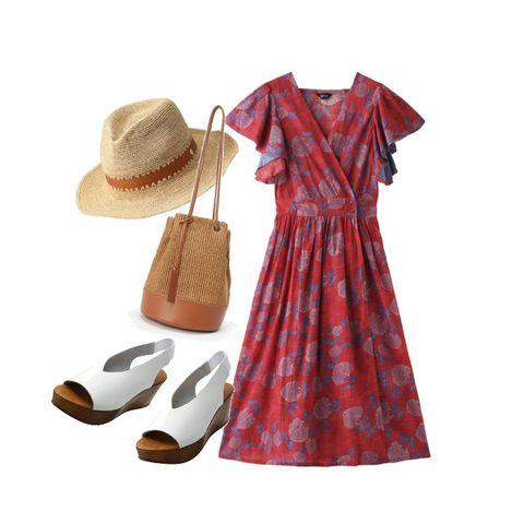 Clothing, Dress, Product, Footwear, Day dress, Pattern, Sleeve, Design, Beige, Tartan,