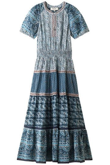 Clothing, Day dress, Dress, Blue, Sleeve, Turquoise, Pattern, Textile, Pattern, A-line,