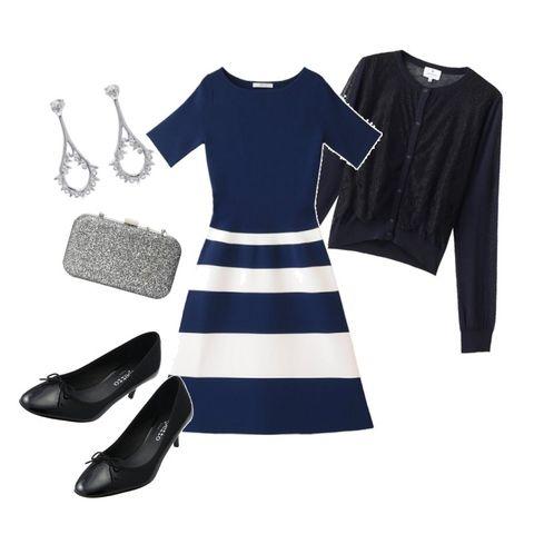 White, Clothing, Black, Blue, Sleeve, Dress, Footwear, Fashion, Little black dress, Design,