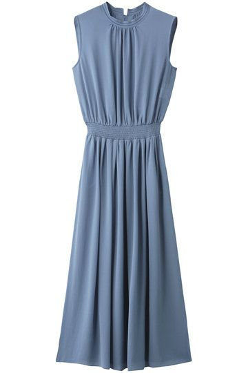 Clothing, Dress, Day dress, Blue, Cocktail dress, A-line, Formal wear, Sleeve, Neck, Collar,