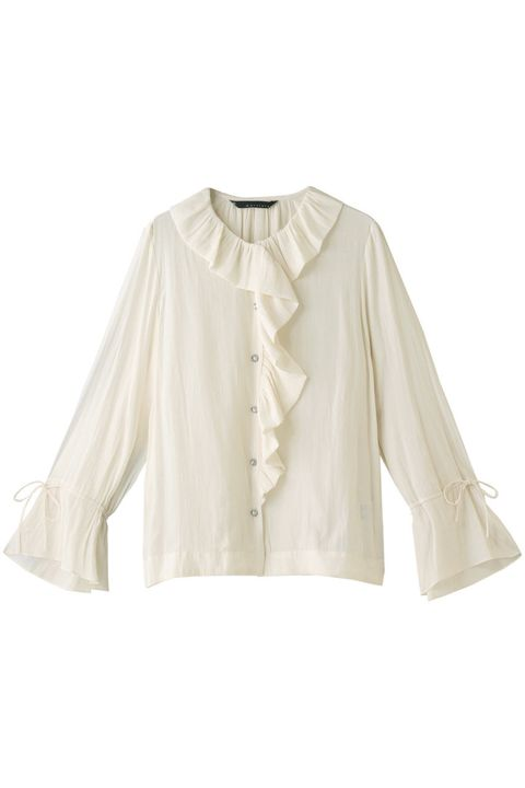 Clothing, White, Sleeve, Outerwear, Blouse, Collar, Beige, Top, Shirt, Jacket,