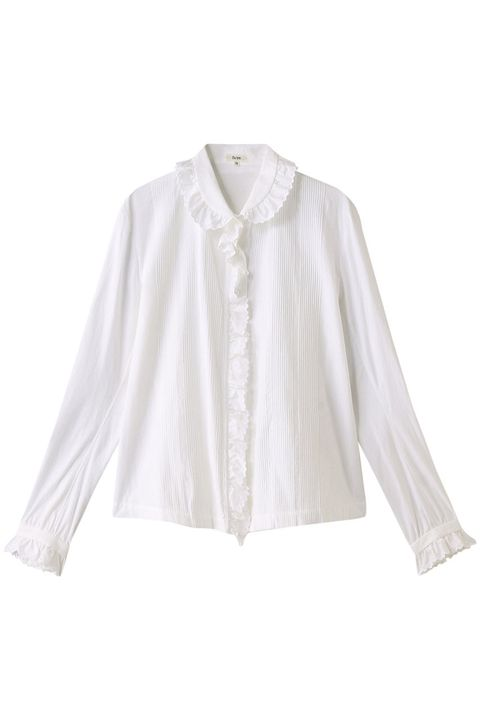 Clothing, White, Sleeve, Outerwear, Collar, Blouse, Shirt, Top, Neck, Beige,