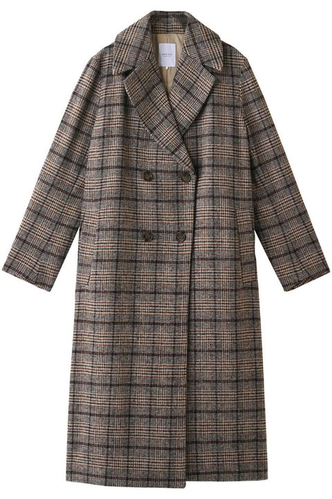 Clothing, Coat, Outerwear, Plaid, Sleeve, Pattern, Overcoat, Tartan, Trench coat, Brown,