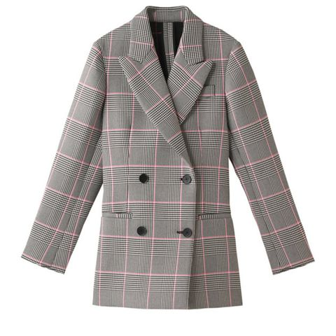 Clothing, Outerwear, Pattern, White, Tartan, Plaid, Sleeve, Coat, Blazer, Overcoat,
