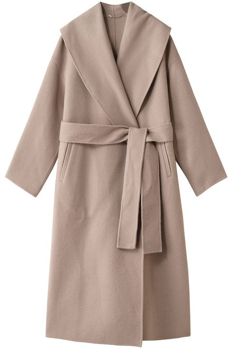 Clothing, Coat, Outerwear, Robe, Sleeve, Overcoat, Brown, Collar, Wrap, Trench coat,