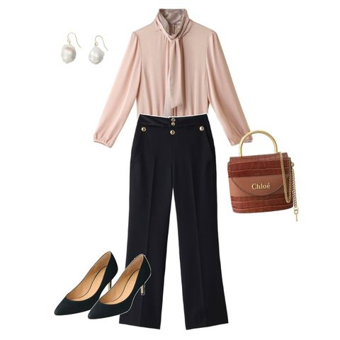 Clothing, Brown, Footwear, Fashion, Trousers, Blouse, Shoe, Collar, Beige, Sleeve,