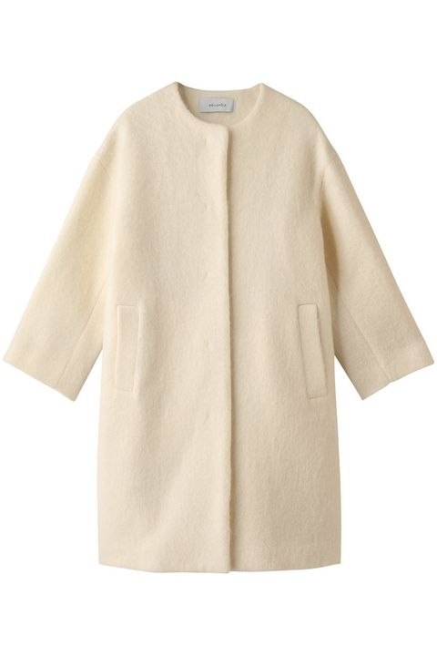 Clothing, Outerwear, White, Sleeve, Beige, Collar, Coat, Blouse, Jacket, Top,