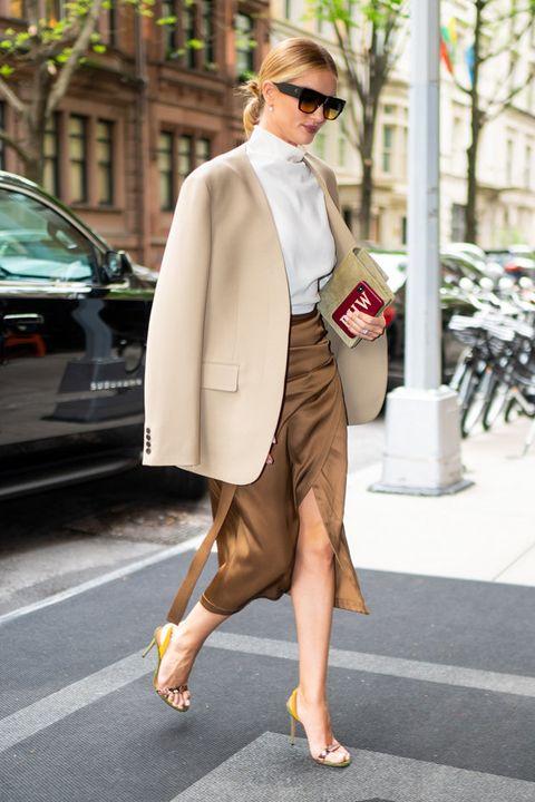 Clothing, Street fashion, White, Fashion, Coat, Snapshot, Outerwear, Footwear, Sunglasses, Leg,