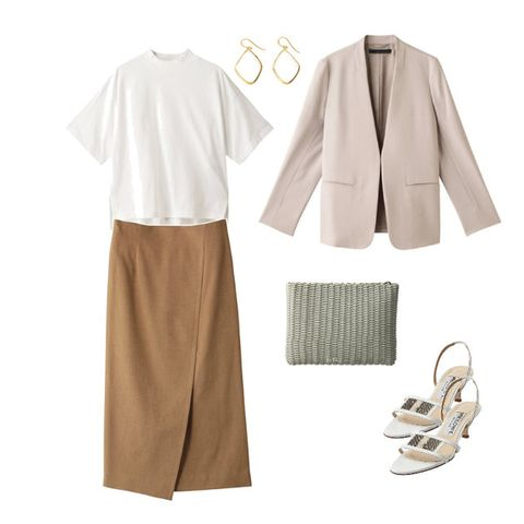 White, Clothing, Brown, Beige, Sleeve, Footwear, Dress, Outerwear, Trousers, Blouse,